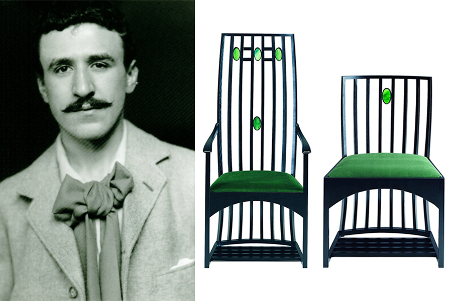 Diseñador Charles Rennie Mackintosh.