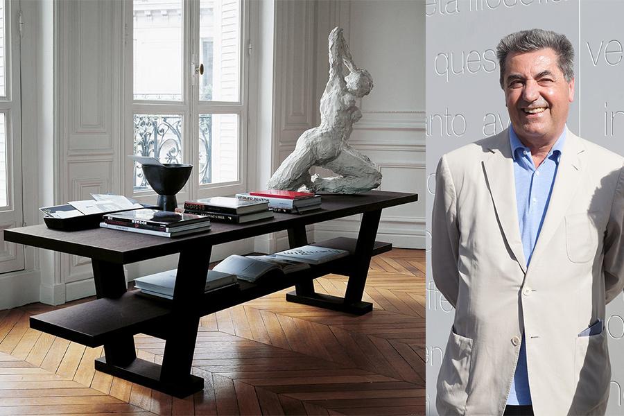 Arquitecto y diseñador Antonio Citterio, y mueble para la firma Maxalto.