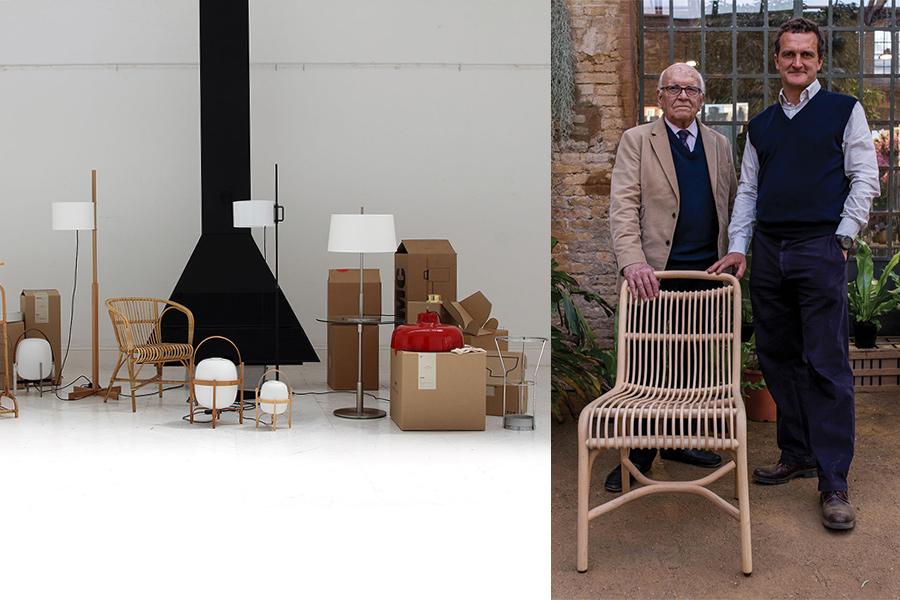 Diseñadores Miguel Milá y Gonzalo Milá.