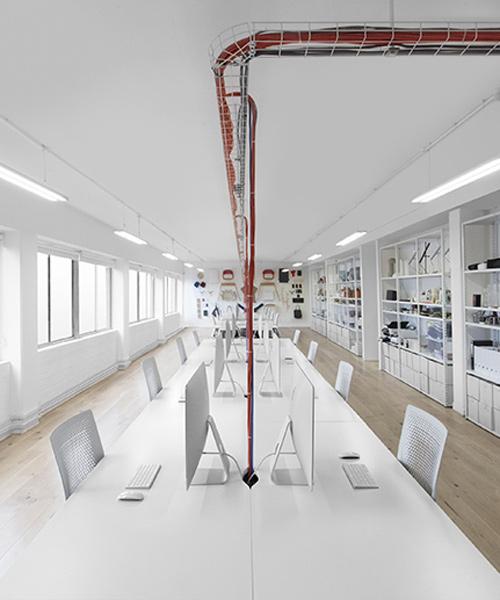 Vista general del Estudio Capa del diseñador Benjamin Hubert.