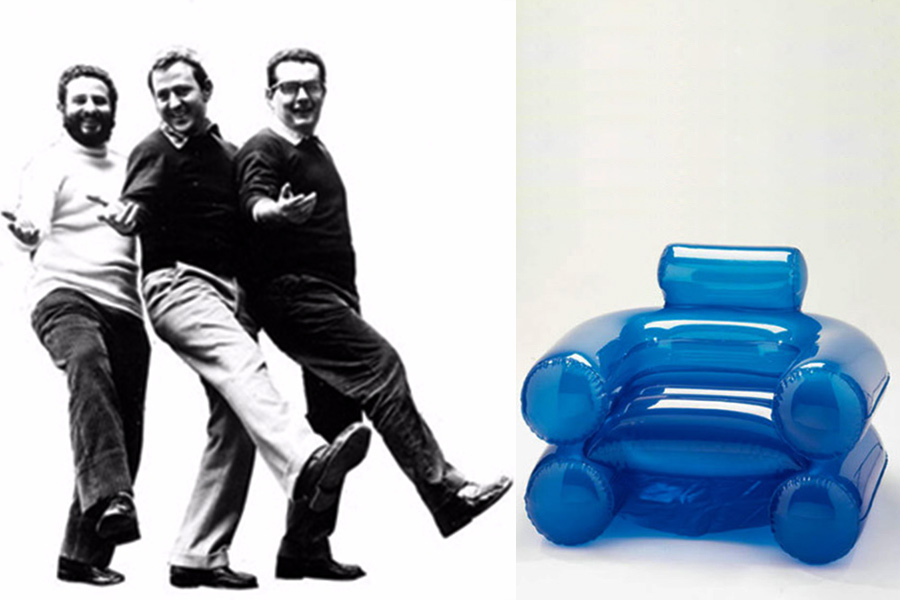 Designers Jonathan De Pas, Paolo Lomazzi y Donato D´Urbino.