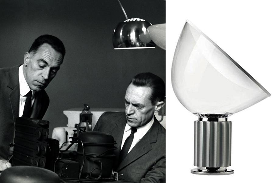 Designers Pier Giacomo y Achille Castiglioni.