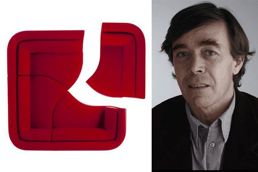 "Designer François Bauchet y ""Méridienne Yang"" (2002) para Cinna."