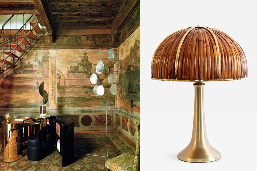 Gabriella Crespi Large Fungo Table Lamp from Rising Sun Series.