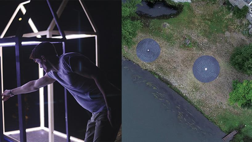 """Inauguración de enBarcArte el 8 de Septiembre 2018 y """"Círculos de Piedra"""" vistos desde un dron."""