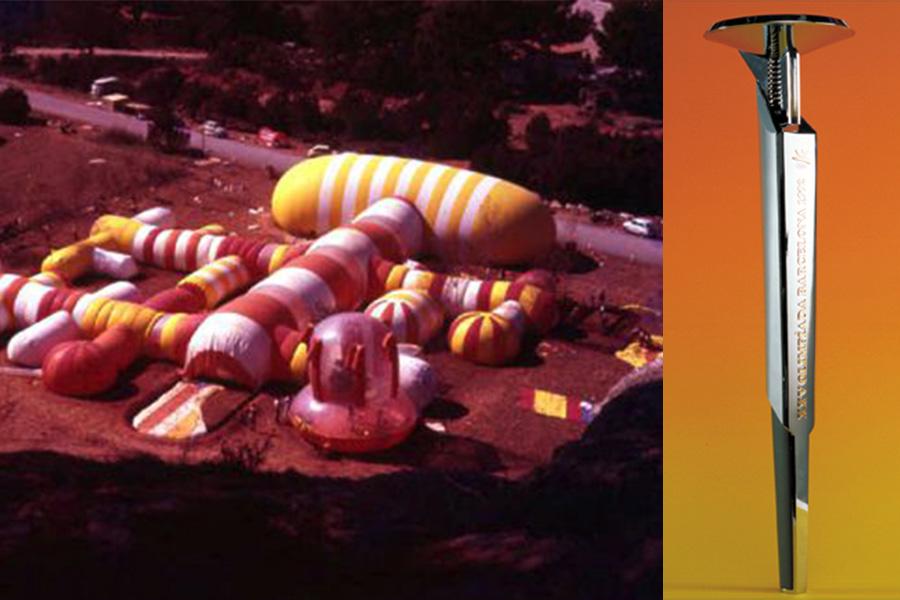 Instant City. Cala Sant Miquel, Ibiza (1971) y antorcha para los Juegos Olímpicos de Barcelona 1992.