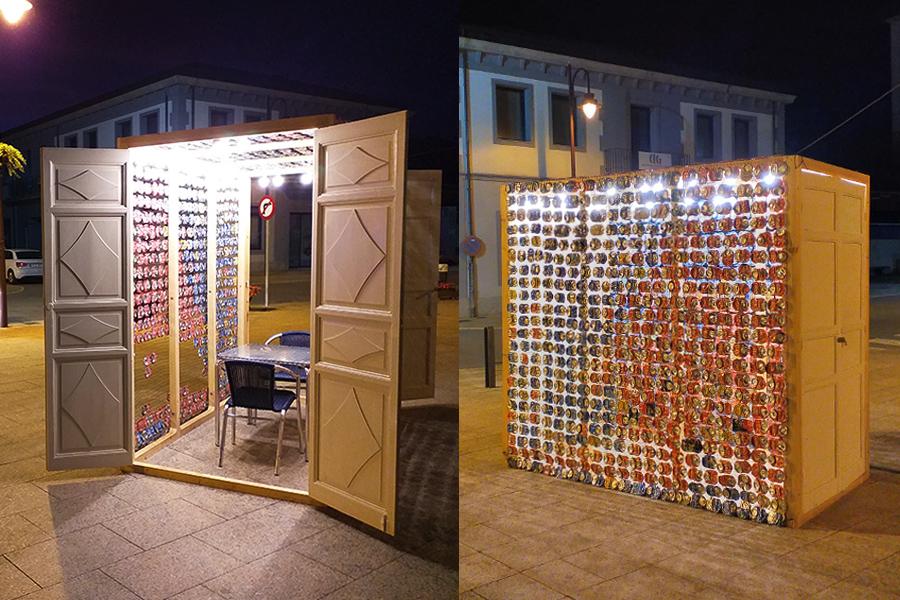 Instalación Eco-Folie de Surya Namaskar