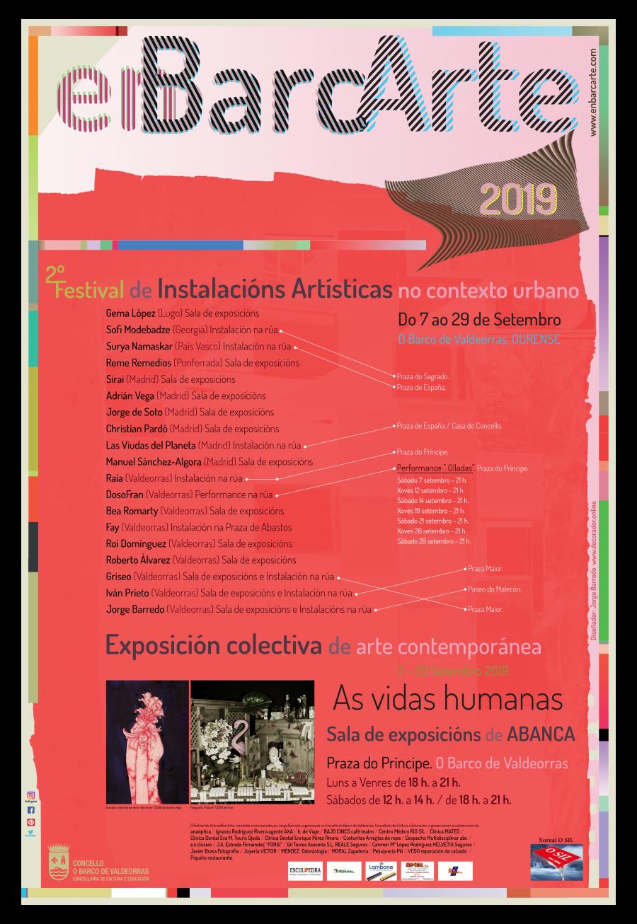 Cartel para el Festival de Instalaciones artísticas enBarcArte 2019