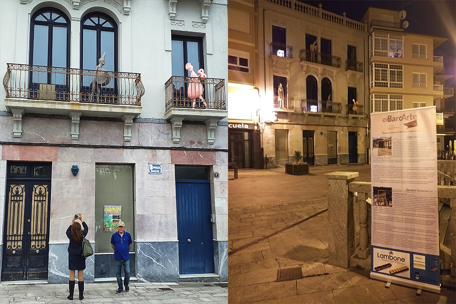 Instalación Veciñanza de Iván Prieto